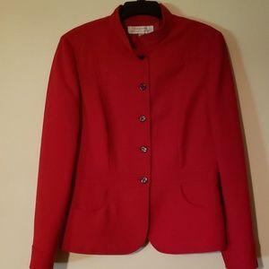 Red tahari blazer size 10